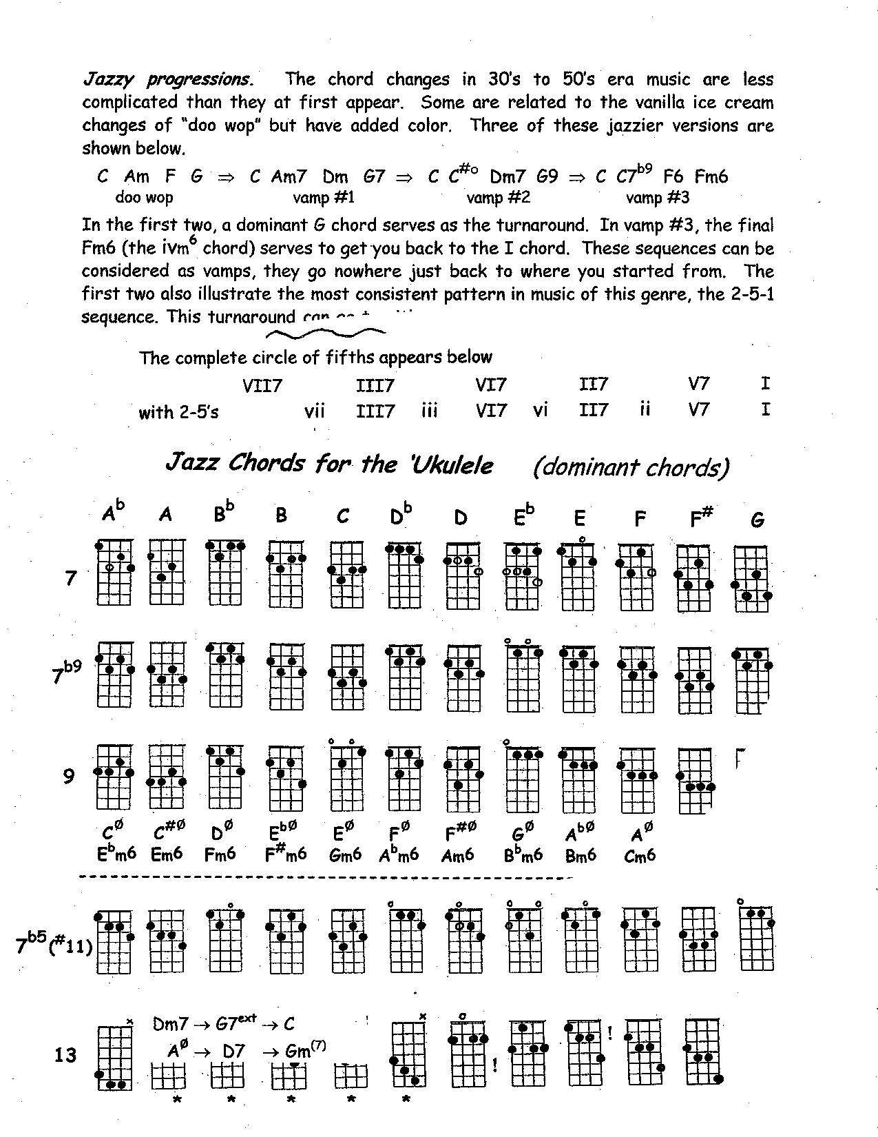 Jazz Chords and changes - page 1